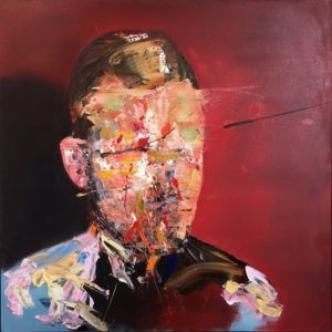 Anonymous Man, 100cm x 100cm